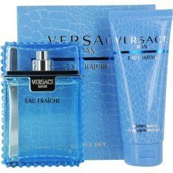 Versace Eau Fraiche Men Gift Set (Eau De Toilette Spray, Perfumed Bath and Shower Gel) by Versace. $46.89. MEN. Image shown above may not be true representation. See product description! (Below). Gift Sets. Versace Man Eau Fraiche is a fresh, sexy interpretation of the Versace Man fragrance is a softer, more subtly sexy version of the original. Smooth fruits spiced with green leaves and warm notes of musk, amber, and sycamore wood, make this a scent for today's ...