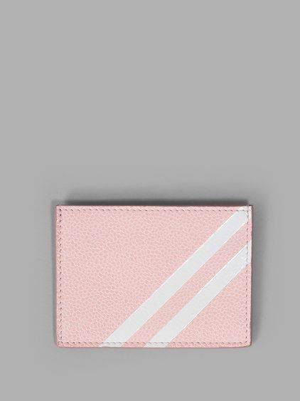 THOM BROWNE Thom Browne Men'S Pink Card Holder. #thombrowne #wallets