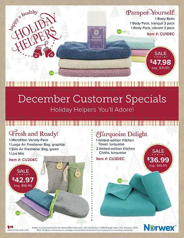 Norwex December 2018 Customer Specials Norwex Body Cloths Norwex Skin So Soft