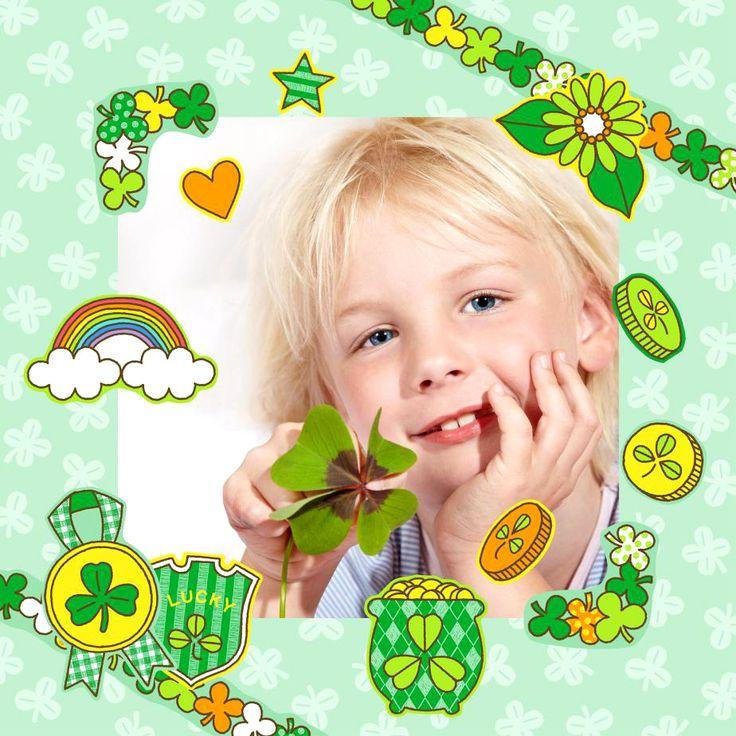 簡単無料ダウンロード✨3月17日の セントパトリックデー はグリーンの物を身につけて楽しく盛り上がれる1日(*´∨`*) スクラップキット➡️https://goo.gl/aci8PO  で記念の写真を飾ろう!贈ろう!スクエアサイズ・L版サイズ・KGサイズ選べます #StPatrick #緑 #セントパトリックデー #グリーン #スクラップブック #フォトフレーム #ハンドメイド