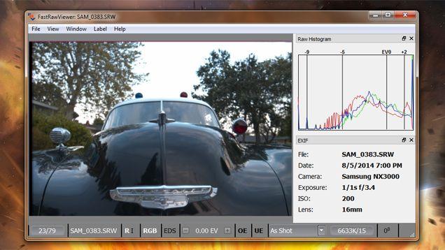 Visor rápido de raw y de datos EXIF. Fast Raw viewer plus exif data