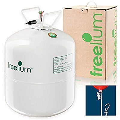 freelium® go 410 - Helium / Ballongas To Go Flasche mit satten 0,41 m³ / 420 Liter + 50x Ballonband