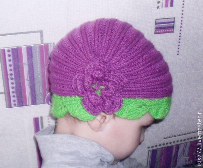 """Купить Шапочка для фотосессии """"Чайная роза"""" - розовый, салатовый, шапочка для фотосессий, подарок девочке"""