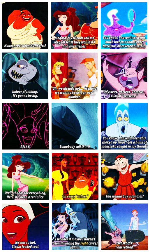 Hahaha some of why Hercules is one of my favorite Disney movies. ♥