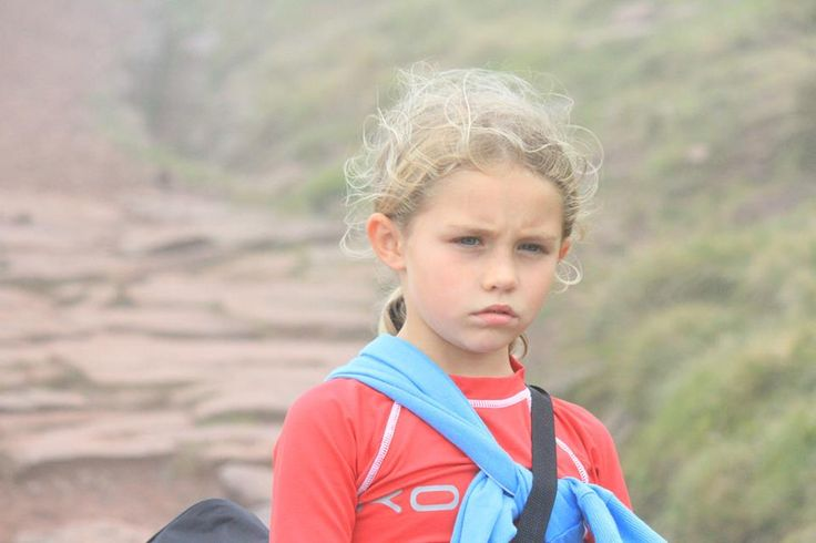 My daughter Hanna looking impressed half way up pen y fan in Brecon Wales. (She wanted to go not me)