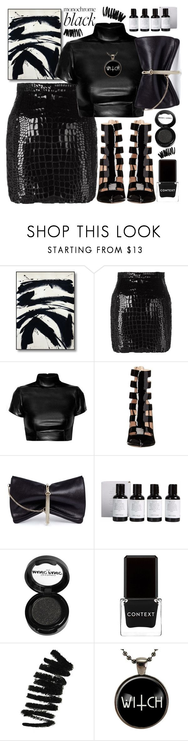 """черный"" by transtetik ❤ liked on Polyvore featuring Yves Saint Laurent, Ruthie Davis, Jimmy Choo, Manic Panic NYC, Context and Bobbi Brown Cosmetics"