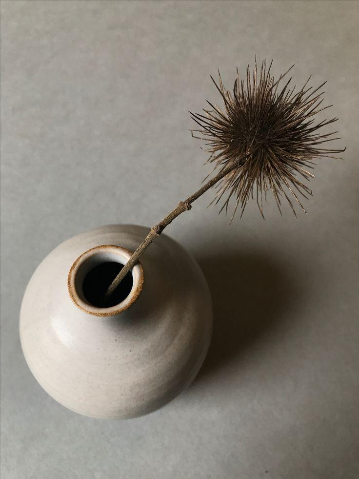 Small glazed bud vase