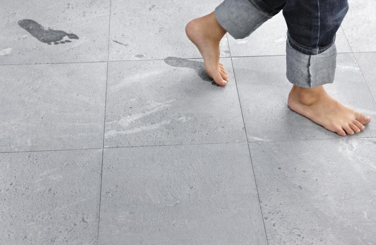 Tulikivi soapstone floor is not slippery when wet. Tulikivi's media