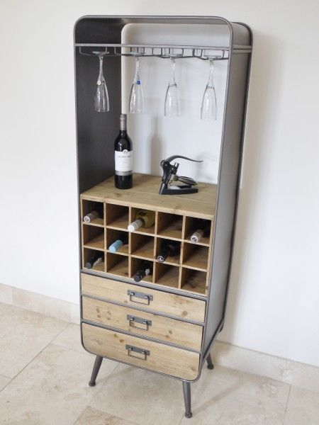 Industrial Furniture Chest Of Drawers Wine Bottle Storage Unit Drinks Cabinet  in Home, Furniture & DIY, Cookware, Dining & Bar, Bar & Wine Accessories | eBay