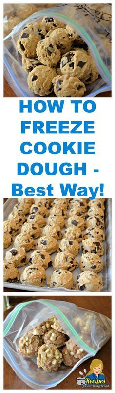 FREEZE COOKIE DOUGH TO HAVE AVAILABLE ANYTIME - Best Way!  SEE DETAILS HERE: http://recipesforourdailybread.com/freeze-cookie-dough/