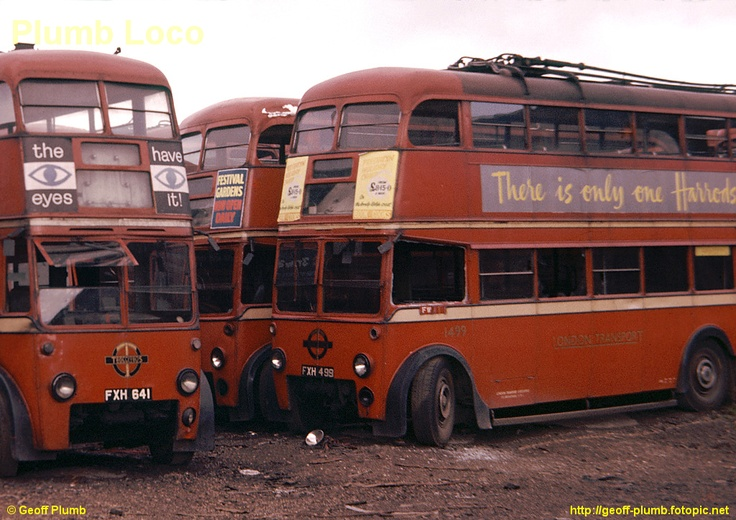 Trolleybuses await their fate behind Colindale Depot, North London
