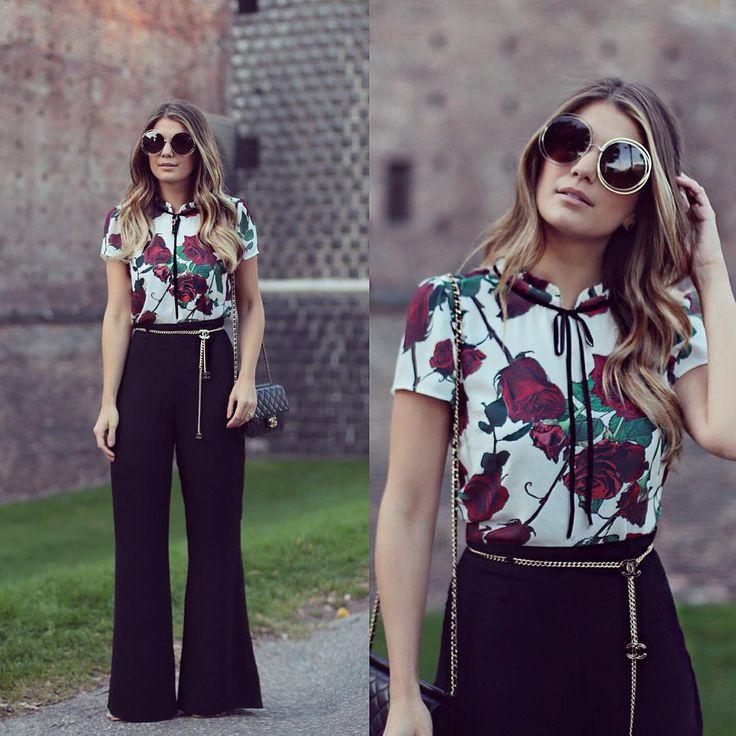 """""""{Today} Pantalona ❤️ Look todo @musebrasil para a loja @closetdamay E o tanto que essa calça alonga e veste bem? ❤️ Mais um da minha coleção…"""""""
