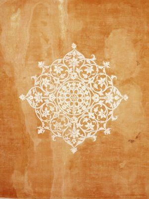 Ceiling stencil idea - Wall art in Indian Palaces