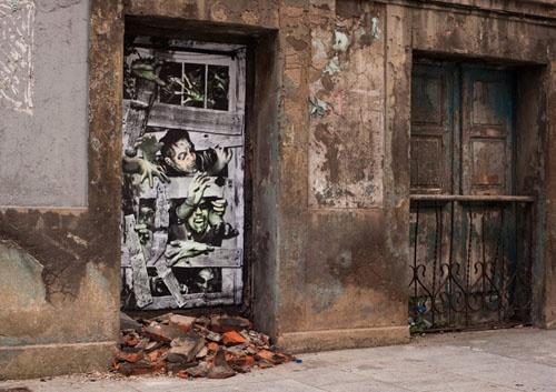 zombie street art: Zombies Apocalyp, The Doors, Street Artists, Street Art Utopia, Urban Art, Zombies Art, Blog Design, Doors Art, Streetart