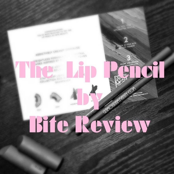 The lip pencil review by bite