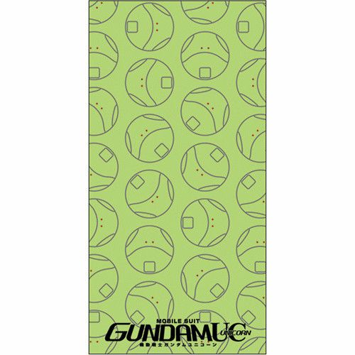 "Add some bounce to your bathtimes with a colorful towel featuring Gundam Unicorn's Haro! Measuring a roomy 59"" x 29.5"", the green towel features a fun Haru pattern as well as the series' logo at the bottom.  #tokyootakumode #homekitchen #Gundam_Series"