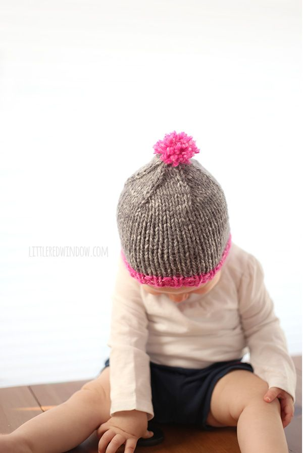 The Do-Gooder Quick Knit Hat free knitting pattern for donations! A great simple and quick pattern to make hats to donate to your favorite charity! Includes Free PDF! (sponsored)   littleredwindow.com