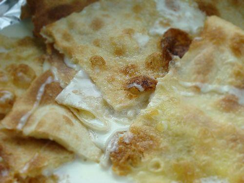 """Italian Riviera FOCACCIA!   This is """"Focaccia di Recco"""", stuffed with stracchino cheese, really a must"""