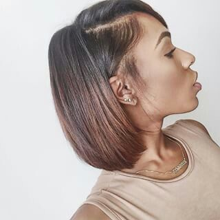 YouTube vlogger Vicky Logan hairstyle.