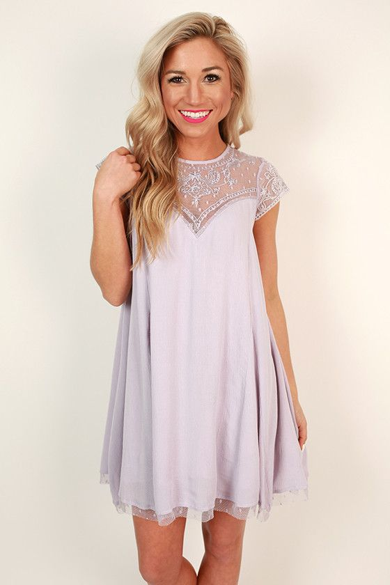Romance in Venice Shift Dress in Lavender                                                                                                                                                      More