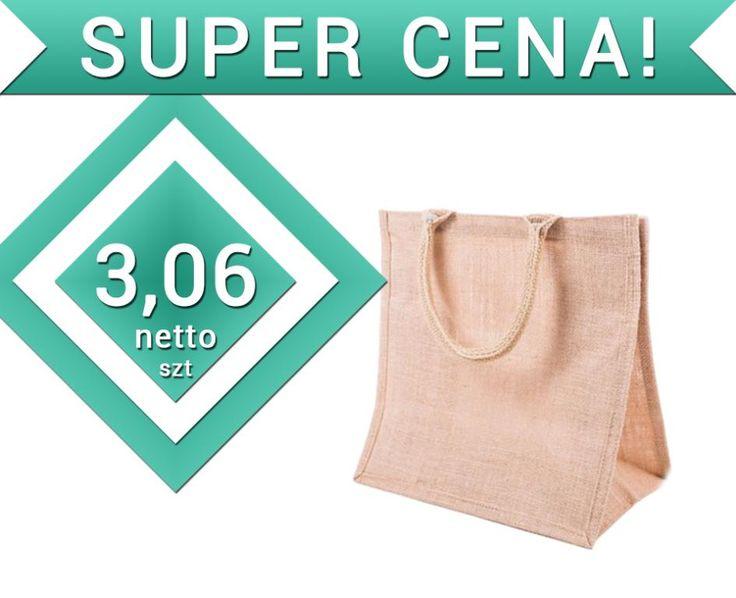 torba z juty torebka eko JUTA 30x12x30 SUPER CENA