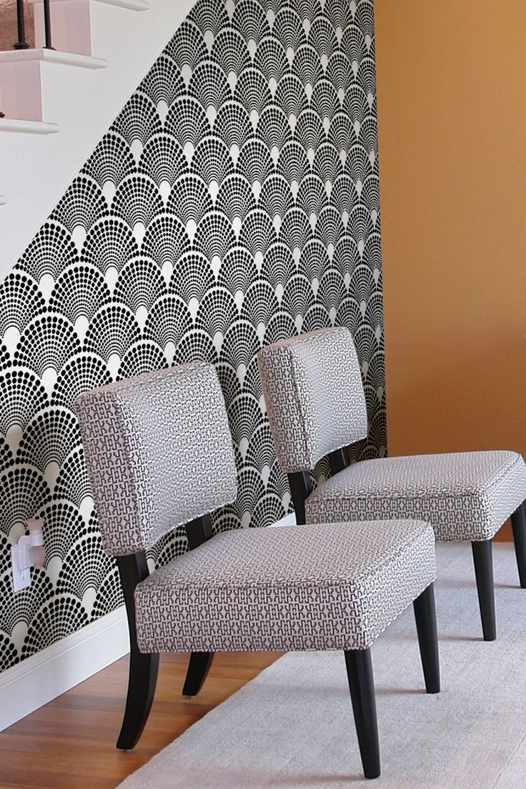 Black & White Scalloped Dots Removable Wall Decal By Astek Wall Tiles