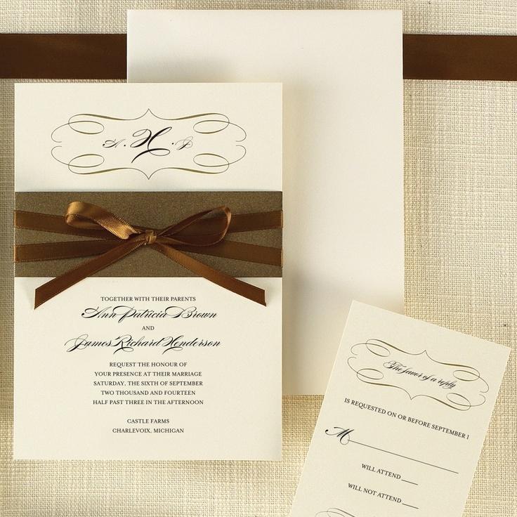 Milan Bride Wedding Invitation   #exclusivelyweddings   #brownwedding