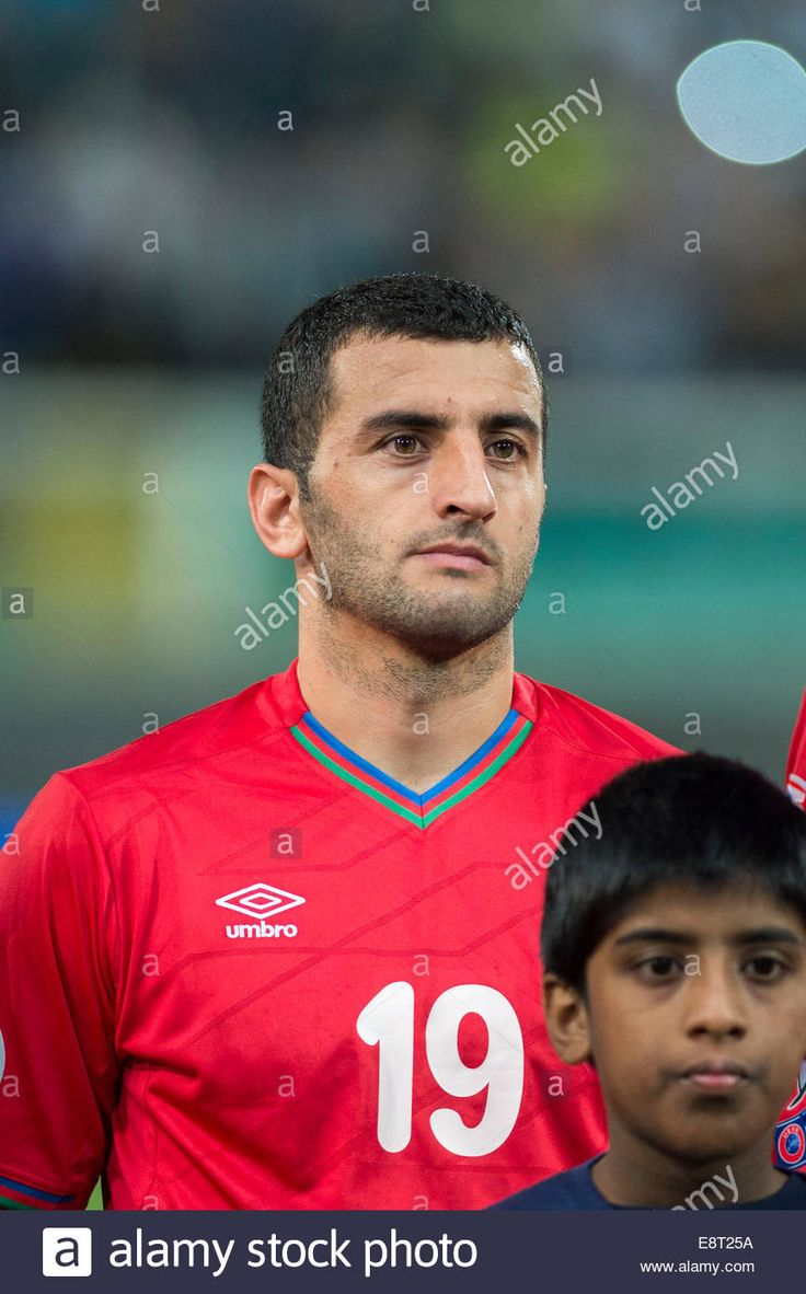 Download this stock image: Palermo, Italy. 10th Oct, 2014. Rahid Amirguliyev (AZE) Football/Soccer : UEFA EURO 2016 Qualifying Group H match between Italy 2-1 Azerbaijan at Stadio Renzo Barbera in Palermo, Italy . © Maurizio Borsari/AFLO/Alamy Live News - e8t25a from Alamy's library of millions of high resolution stock photos, illustrations and vectors.
