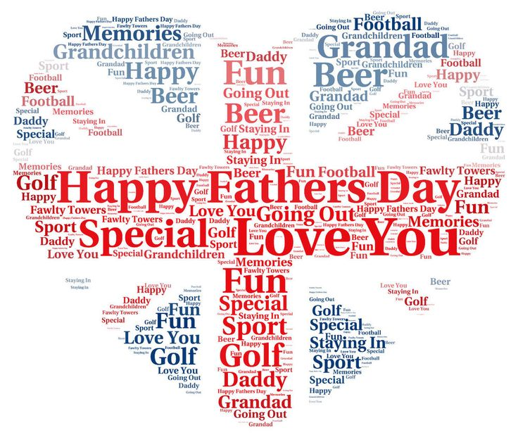 Birthday Fathers Day Personalised England Heart Word Art Gift Present