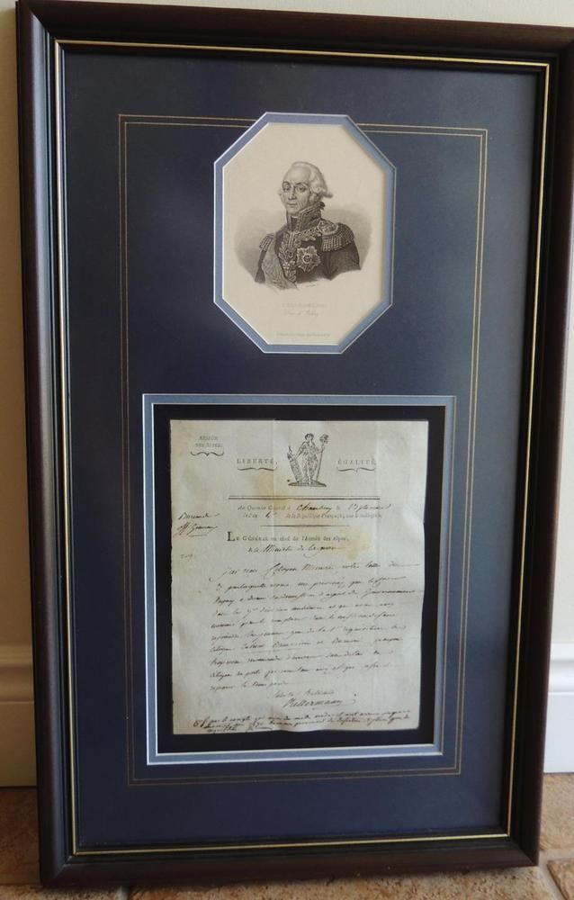 1795 ORIGINAL ANTIQ DOCUMENT by Francois KELLERMANN FRENCH MARSHAL FIRST EMPIRE