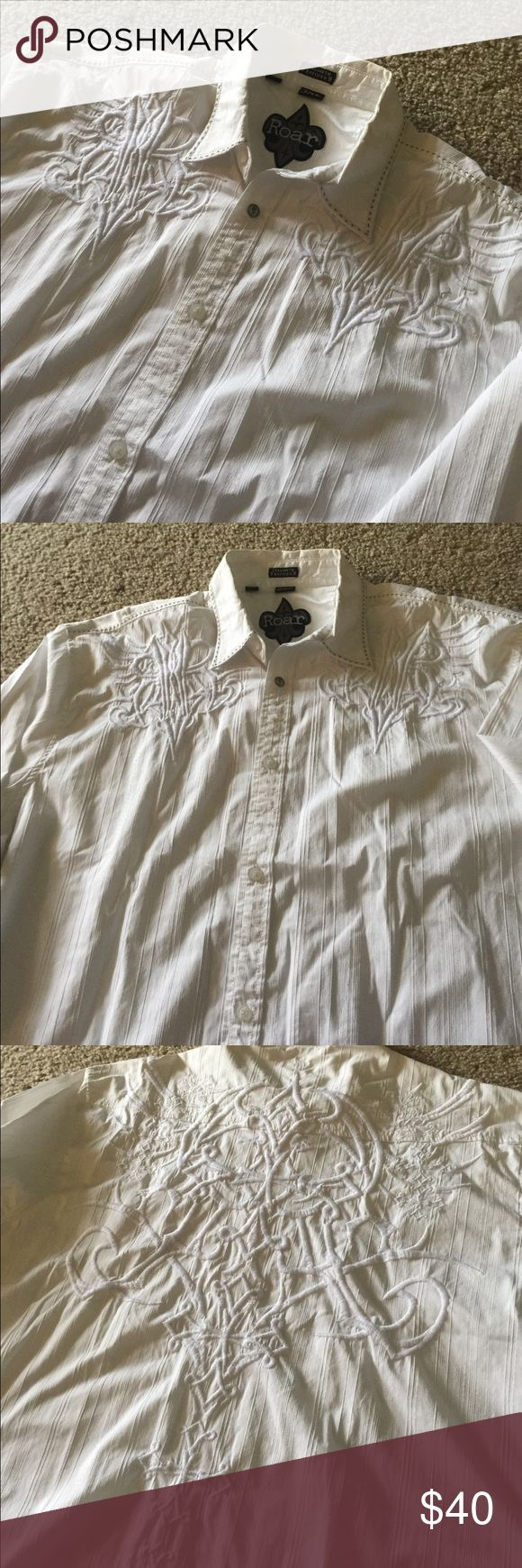 Men's ROAR XXXL causal button down shirt Casual button down long sleeve shirt Roar Shirts Casual Button Down Shirts