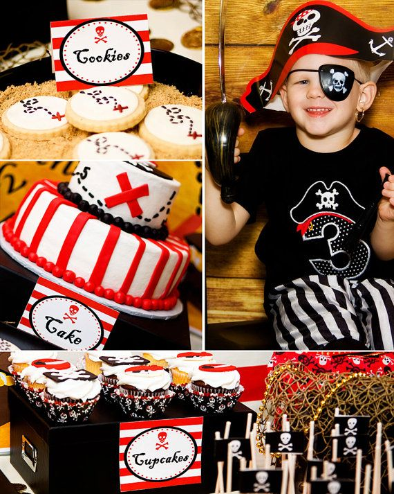 Pirate Birthday Party  Boy Pirate Party  by LillianHopeDesigns, $10.00