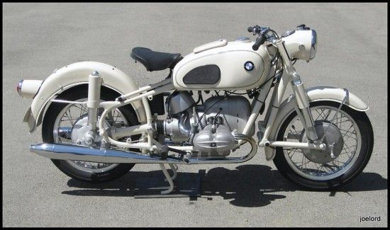 antique motorcycles for sale | 1965 Dover White BMW R69S | Classic Sport Bikes For Sale