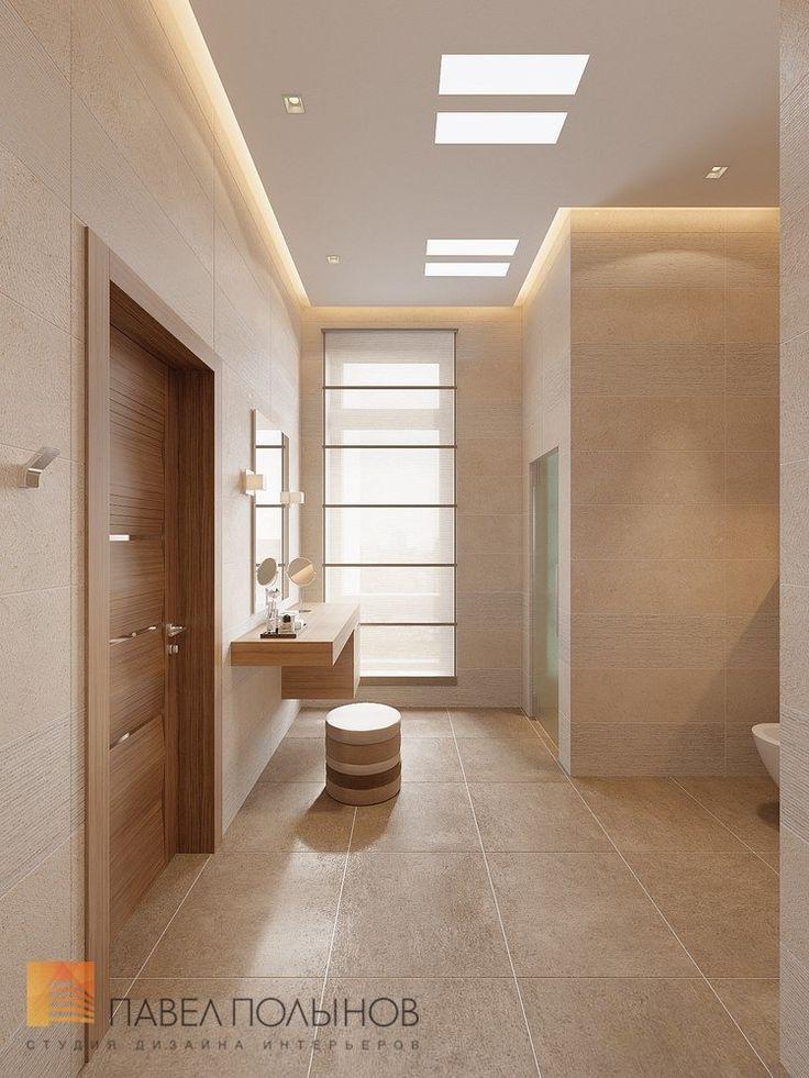 Фото: Интерьер душевой комнаты - Интерьер дома в современном стиле, коттеджный поселок «Небо», 272 кв.м.