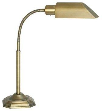 OTT-Lite Alexander Brass Energy-Saving Gooseneck Desk Lamp transitional-table-lamps