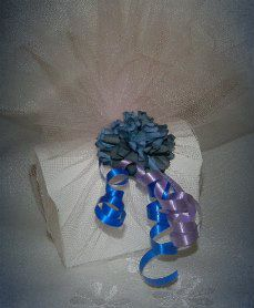 Fully packaged and decorated to match the theme and colour scheme of your special day!