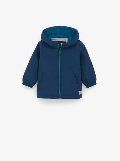 ZARA – Unisex – Nylon raincoat – Blue – 9-12 months (31,5 inches)