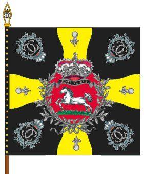 """Bandiera di guerra del rgt. di fanteria del ducato di Brunswick """"Zastrow"""""""