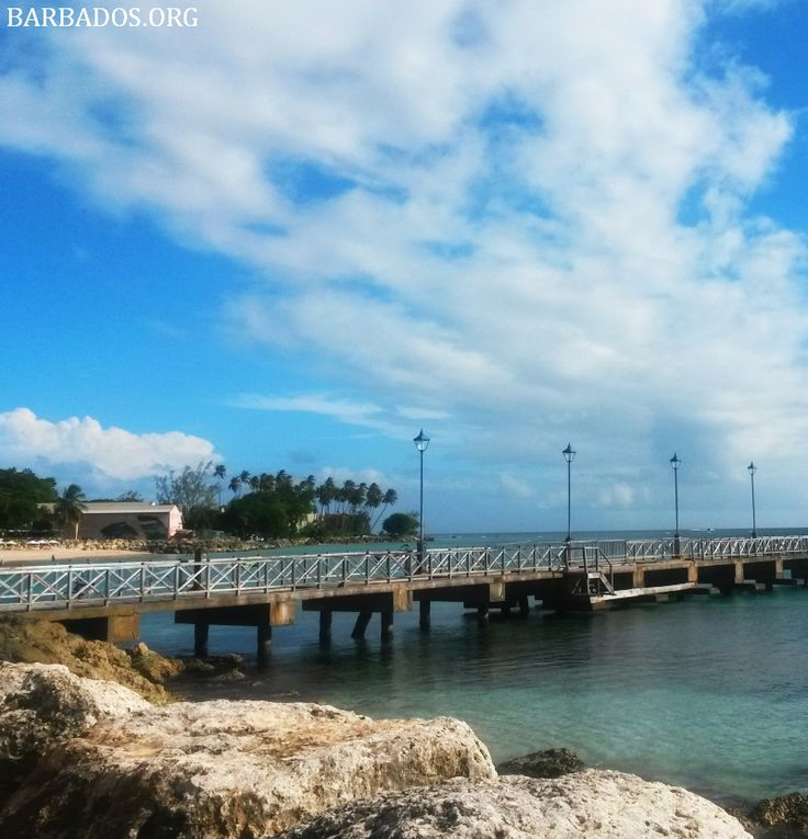 View of the jetty & beach from the Speightstown boardwalk
