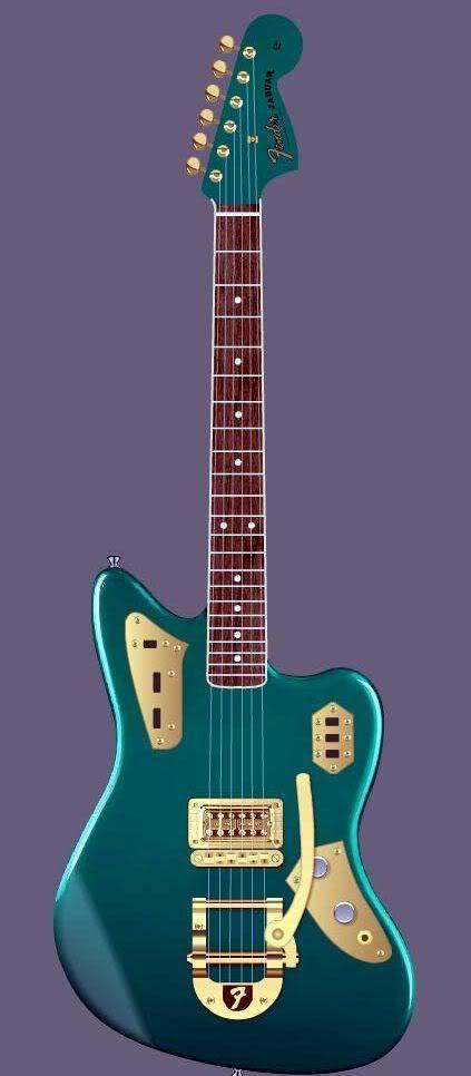 L'indémodable Fender Jazzmaster Jaguar. Retrouvez des cours de guitare d'un nouveau genre sur MyMusicTeacher.fr