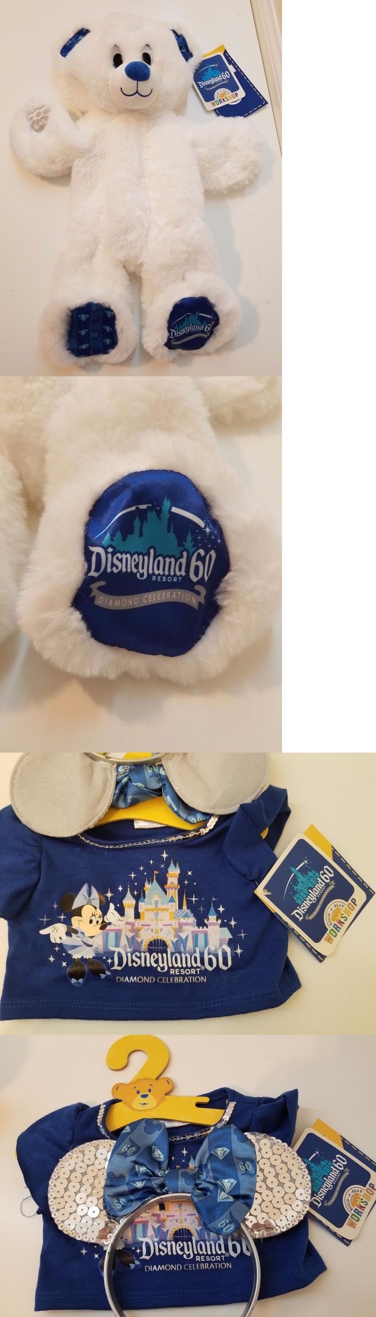 Disney 2597: Build A Bear Disneyland 60Th Diamond Anniversary White Plush -> BUY IT NOW ONLY: $69.99 on eBay!