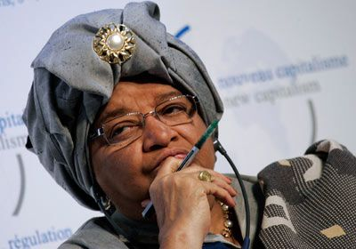From TForbes - he 100 Most Powerful Women   #67 Ellen Johnson-Sirleaf, President of Liberia