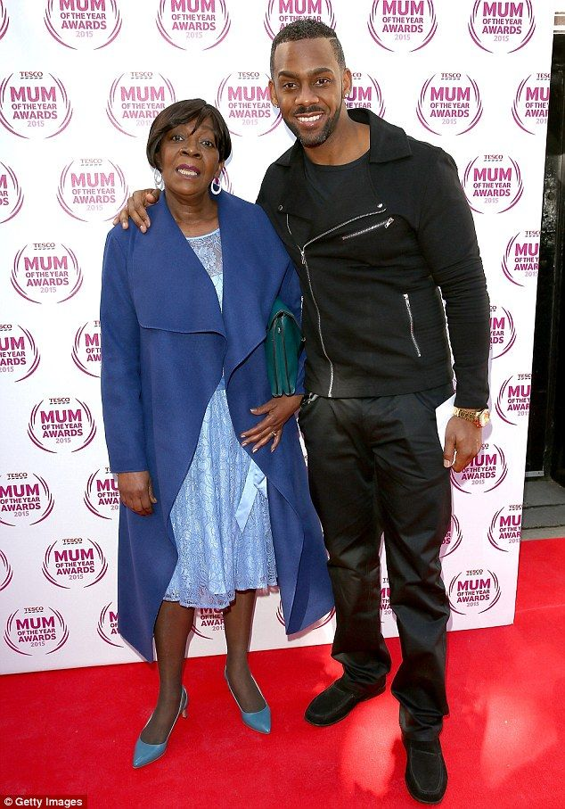 Mama! New EastEnders recruit Richard Blackwood embraced his mother as he arrived in a blac...