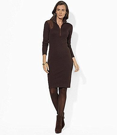 Lauren Ralph Lauren Mockneck Dress #Dillards
