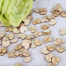 Creative Wooden Love Heart Pieces Buttons Finding Venue Decoration Accessories