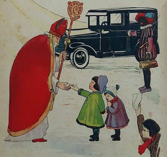 Sinterklaas illustratie  ca. 1920