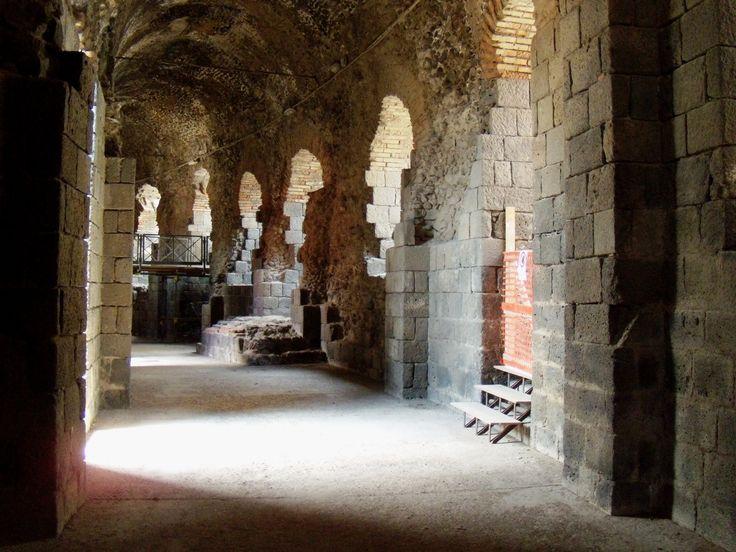 Vaulted passageway inside the Roman theater of Katana (modern Catania), Sicily.