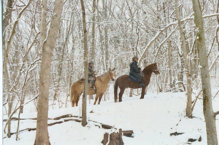 The Winter Horseback Riding Trail In Nebraska That's Pure Magic