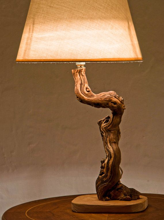 Luxurious Lamp, Driftwood Lamp, Reclaimed Wood Lamp, Natural Lamp, Handmade Lamp, Natural Wood Lamp. $110,00, via Etsy.