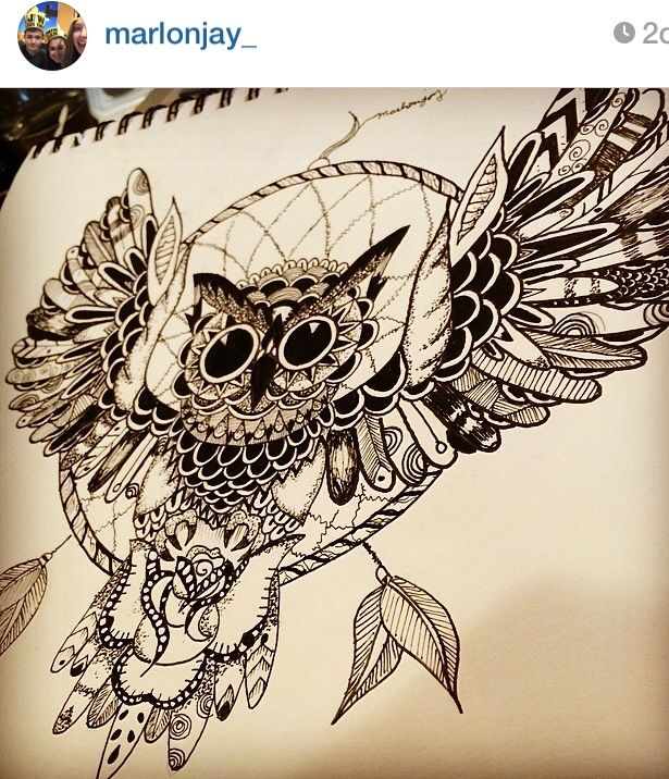 Owl dreamcatcher drawing - photo#23